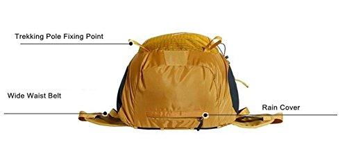 50L Bergsteigen Rucksack Männer Berg Pack Tasche Frauen Wasserdicht Mountain-Reisen Camping Bag Kletter 7