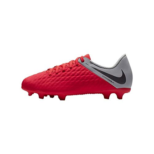 Nike Jr Hypervenom 3 Club Fg, Scarpe da Calcetto Indoor Unisex-Bambini, Multicolore (Lt Crimson/Mtlc Dark Wolf Grey 600), 38 EU