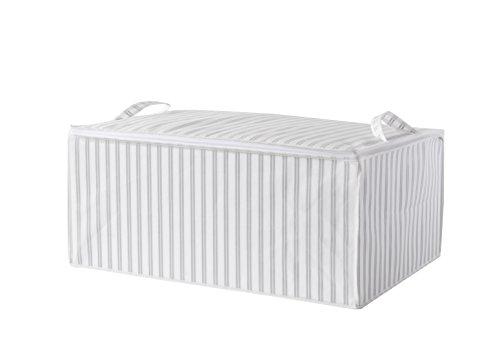 Compactor Home RAN7505 - Funda para Colcha, Polipropileno, 70x 50x 30cm, Color Blanco y Gris