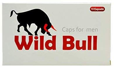 Männer Kapseln Wild Bull Red - 10 Kapseln natürliches Präparat für den Mann