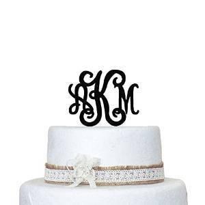 Wedding Cake Topper personalizzato qualsiasi lettera a, b, c, d e F G H I J K L M N O P Q R S T U V W X Y Z design3