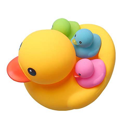 Das Kleine Gelbe Entenkinderbadewasser, Das Zusammendrückt, Nannte Plastikspielzeug Des Skorpions Nettes Stimmliches Entenbaby-Badespielzeug Baby Spielzeug Ab Monate Monaten Kinder