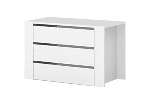 Eingebaute Schubladen für Kleiderschränke, Farbe: Weiß - Abmessungen: 88 x 57 x 45 cm (B x H x T)