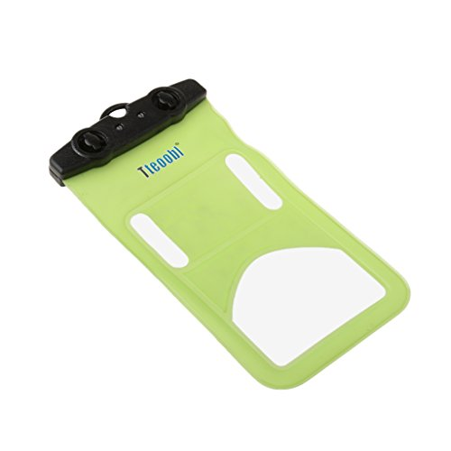 MagiDeal Wasserdichte Handyhülle , Touch Screen Handytasche , Staubdichte Schützhülle Für Iphone 5 / Iphone 6 , Verschluss Clip-Design - Orange Grün
