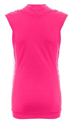 Nouvelle formule pour femme Col bénitier et manches longues sans manches pour femme Tailles :  8–26 Rose - Fuchsia