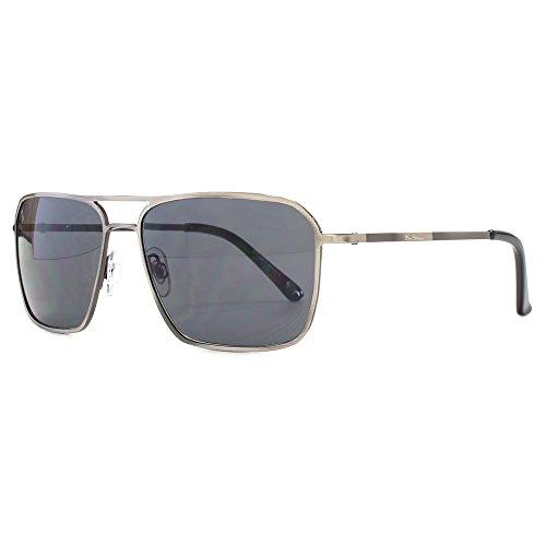 Ben Sherman Fine Frame Metal Square Sunglasses in Grey BEN019