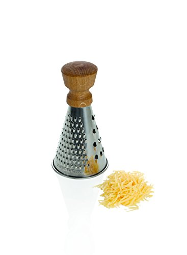 16 x 9 x 9 cm: Boska Oak/Stainless Steel Mini Table Grater, Silver/Brown