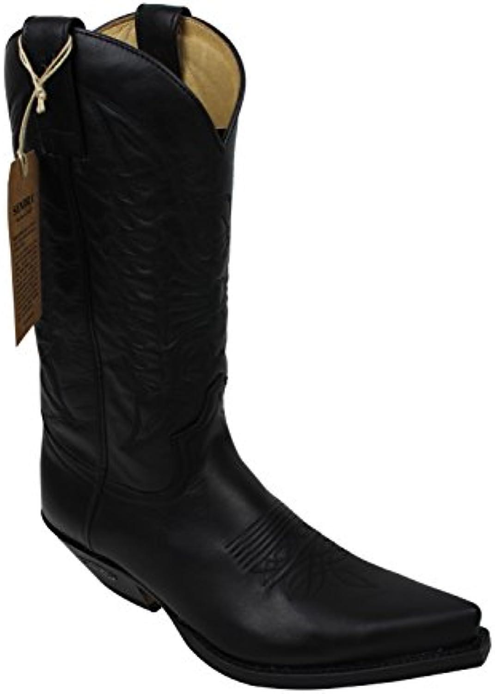 Sendra Cowboystiefel 2073 in schwarz incl. Roy Dunnacutes Lederfett und Stiefelknecht