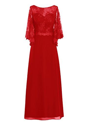 Dresstells, robe de cérémonie, robe de mère de mariée, robe pour les mères Rouge
