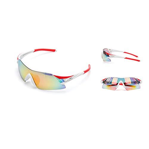 Polarisierte Sonnenbrille mit UV-Schutz Rahmenlose polarisierte Sport-Sonnenbrille mit 5-teiligen austauschbaren Linsen für Männer Frauen Clip-on-UV-Schutz Sonnenbrille Superleichtes Rahmen-Fischen, d
