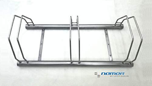 Fahrrad Bügelparker 1000mm | Edelstahl Rostfrei | Fahrradständer | Edelstahl | 3 Plätze Namor© -
