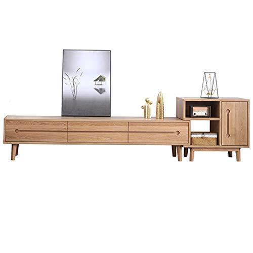 Gmadostoe Meuble TV, Meuble TV Moderne et lustré, Meuble de Rangement, Table Haute Brillance, Meubles de Divertissement à Domicile,240 * 40 * 61cm