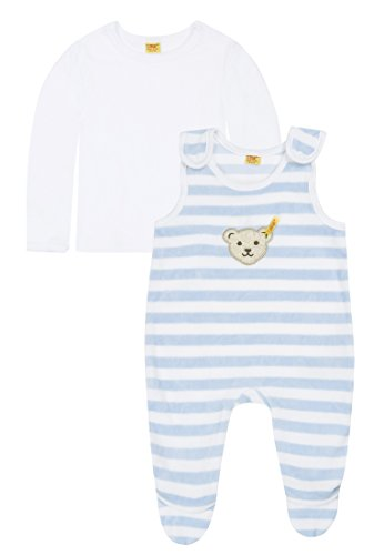 Steiff Unisex - Baby Bekleidungsset Blau (3023 ) 74 (Herstellergröße: 74) -