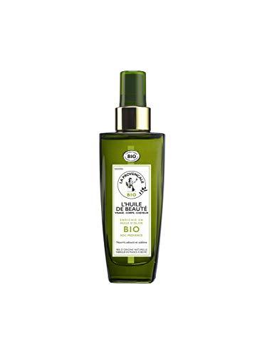 La Provençale - L'Huile de Beauté Visage Corps Cheveux - Soin Certifié Bio - Huile d'Olive Bio AOC Provence - pour Tous Types de Cheveux et de Peaux, Même Sensibles - 100 ml