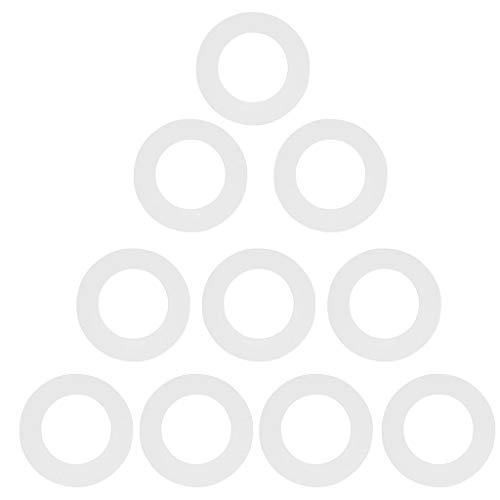 10 Pcs Collares Calentador de Cera Anillo Protector Universal Material Papel