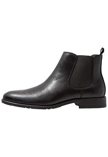 Pier One Chelsea-Stiefel für Herren - Schicke Herrenstiefel aus Leder - Boots schwarz in Größe 42