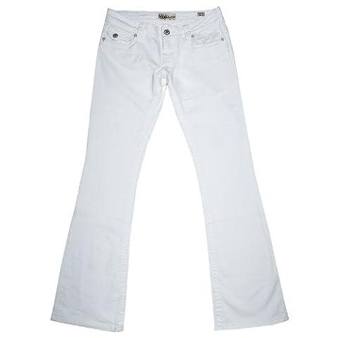 Mek DNM, New York, Stretch Jeans, mittelstarker Denim, weiss aged,
