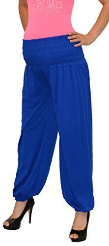 Pantalon pour femme enceinte schwangerschaftshose umstandshose pantalon de grossesse en 25 couleurs Bleu - Bleu royal