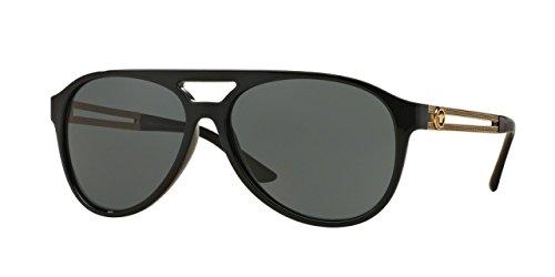 Versace - VE 4312, Aviator, propionato, uomo, BLACK/GREY GREEN(GB1/71), 60/15/145
