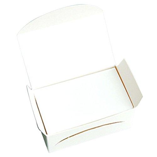Outflower 100 Blatt Papierkarten für Businesskarten, Grußkarten, Bastelprojekte (weiß) 8.9x5cm weiß