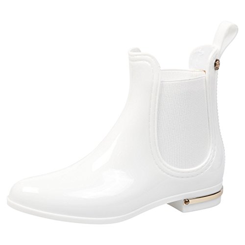 Feet First Fashion Ocean Girls Kids Low Heel Pull On Chelsea Wellington Boots