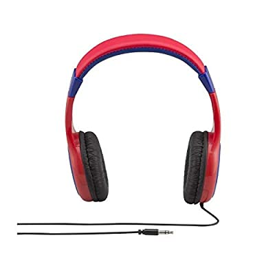 eKids Spiderman Over the Ear Wired Headphones - Red/Blue