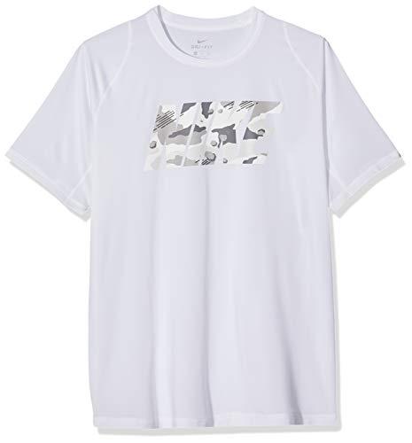 Nike Herren M NP TOP SS FTTD 2L CMO T-Shirt, White, L - Nike-athletic-t-shirt