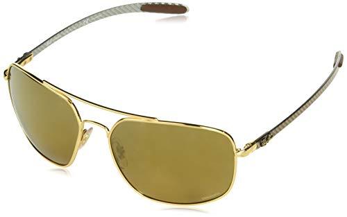 Ray-Ban Herren 0RB8322CH Sonnenbrille, Gold, 62.0