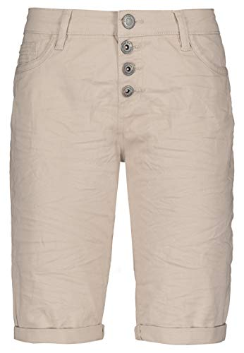 Stitch & Soul Damen Bermuda-Shorts mit Aufschlag beige L - Stretch Twill-bermuda