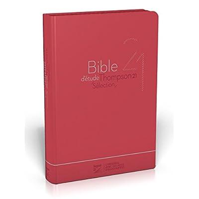 Bible d'étude Thompson 21 sélection : Couverture souple rouge, zipper