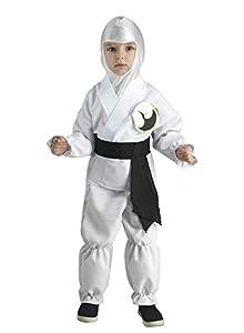 Clown Republic - Disfraz pequeño Ninja para niño, color blanco