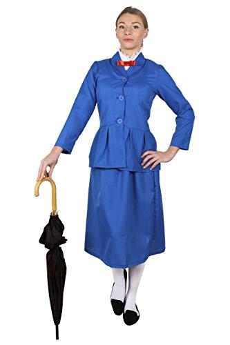 ILOVEFANCYDRESS MAGISCHE-Nanny/KINDERMÄDCHEN Frauen Poppins KOSTÜM VERKLEIDUNG MIT 4 VERSCHIEDENEN - Mary Poppins Kostüm Familie