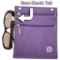 Doble cremallera Hip Clips–Manos libres Cell Phone–Cartera/Monedero grande con elástico, diseño de círculos