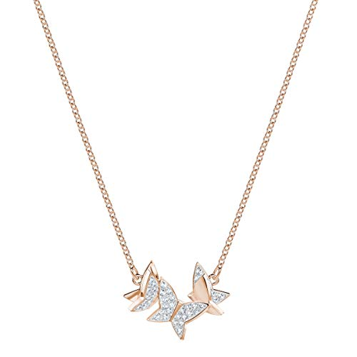 Swarovski Women's Rose-Gold Tone Plated, Small, White Crystal, Lilia Necklace 5382366 Img 4 Zoom