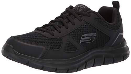 Skechers Track-scloric, Scarpe da Ginnastica Basse Uomo, Nero (Black 52631-Bbk), 45 EU