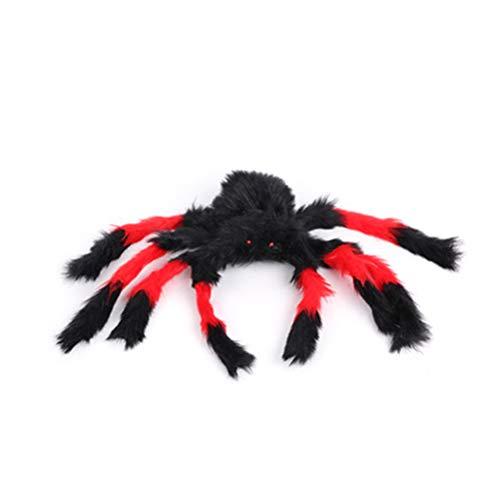 Opplei Spinnen-Dekorationen Groß Halloween-Spinne im Freien Halloween-Dekorationen Haarige bewegliche Spinne für Hof Party-Dekor Fenster Spukhaus
