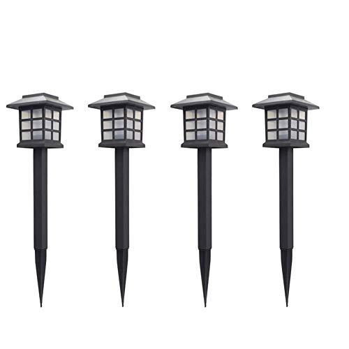 Romote 4Set Solarbetriebene Licht Im Freien Landschafts Pathway Garten-Yard-Zaun Dekorative Lumen LED-Anteil Bunte