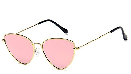 CNSP Brillen,Vintage Sonnenbrillen,2019 Cat Eye vintage mirror Sunglasses Women Metal Reflective flat lens Sun Glasses Female oculos de sol,C7