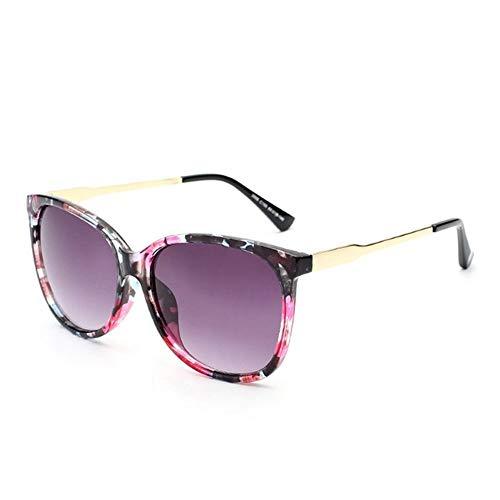 HUOYAN Weibliche Sonnenbrille Frauen Übergroße Sonnenbrille Vintage Outdoor Sonnenbrille (Lenses Color : Multi)