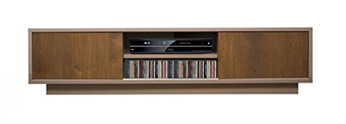 Bois & Design Meuble TV Bas Buffet Porte TV en chêne 2 Portes coulissantes