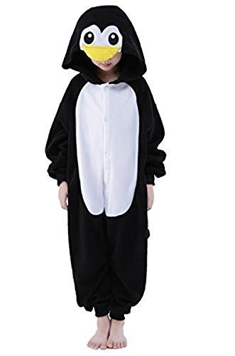 Kenmont Jumpsuit Tier Cartoon Einhorn Pyjama Overall Kostüm Sleepsuit Halloween Cosplay Animal Sleepwear für Kinder Baby (Größe105: Höhe 105-120, Penguin)