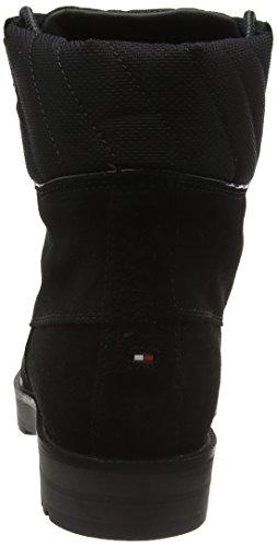Tommy Hilfiger Damen W1285est 8b Kurzschaft Stiefel Schwarz (black 990)