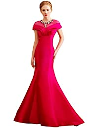 Beauty-Emily bordado vestir de sirena sin tirantes de seguridad para anclaje en sandalias planas con sujeción en de fiesta de boda BEK2vHCqV