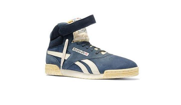 a9c1cdf7123 Reebok Ex O Fit Hi Clean Vintage V52778 Blue Black 47  Amazon.co.uk  Sports    Outdoors