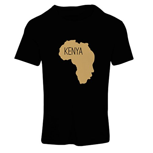N4200F Save Kenya ! Short Sleeve t-shirt femelle Black Gold