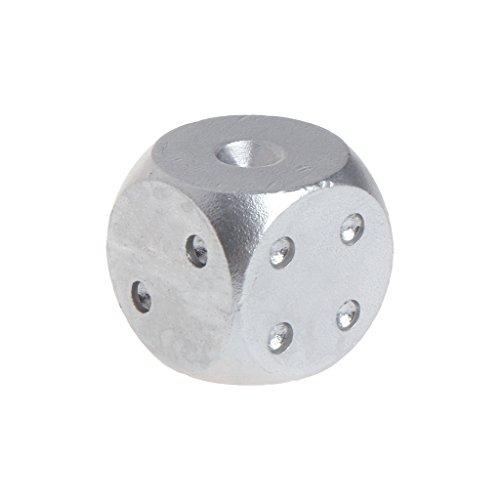 Lergo Würfel, Aluminium, Polyhedral, solides Metall, 16 x 16 x 16 mm, Silber