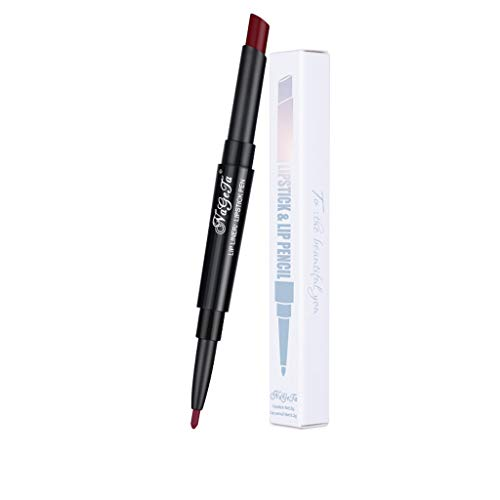 Hhyyq Lippenstift Doppel Lip Liner Stift Lip Liner Lip Liner Bleistift Automatische Rotierende...