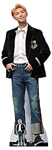 Star Cutouts Ltd Joo Star CS783 Rap Monster Bangtan - Recortes de cartón para niños (tamaño real, con recorte mini (BTS Kpop) Kim NAM-Joon de 180 cm de altura, multicolor