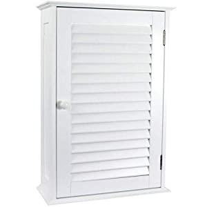 Home Discount® Bathroom Cabinet Single Door Shutter Wall Mounted Storage, White