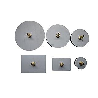Ventil-Leck-Tester Pads–6mit Messing-Beschlägen –